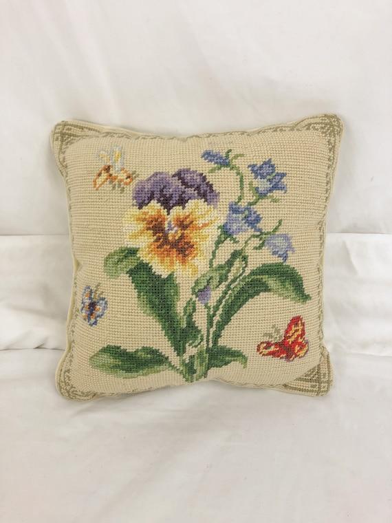 Vintage carpet accent pillow