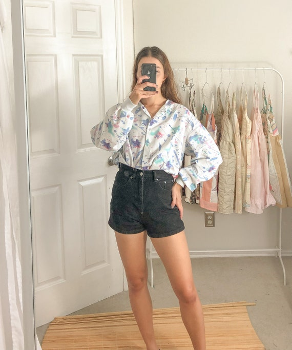 Retro Button up top-Large