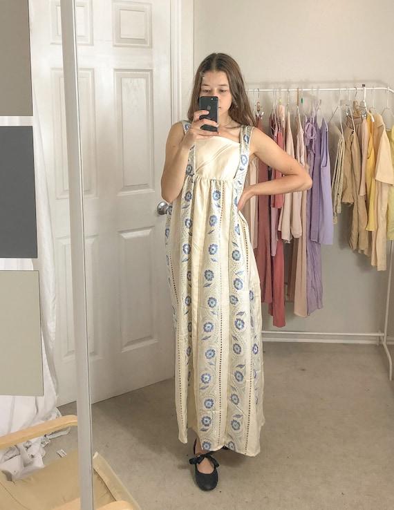 Handmade silky paneled dress-Small