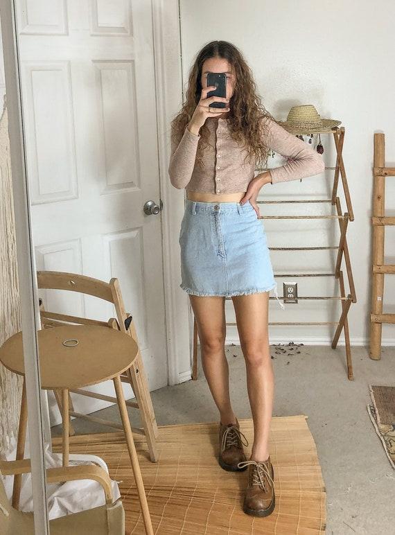 Vintage high waist denim skirt-Small