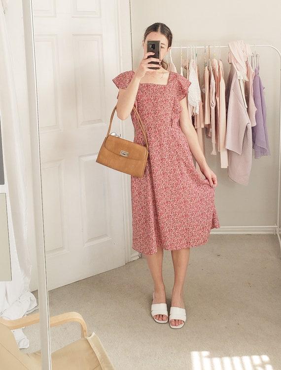 Pink Floral Dress-Large