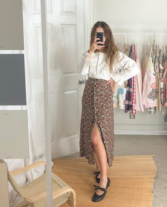 Vintage floral skirt-Large