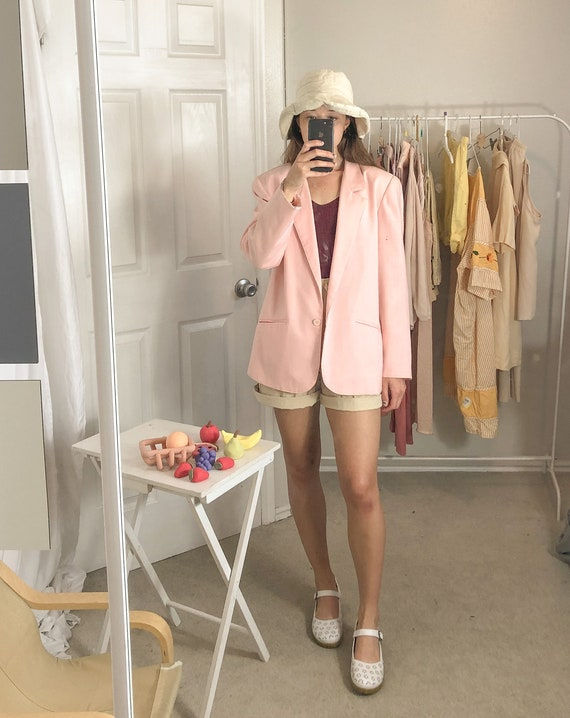 Vintage Pink Blazer-Medium