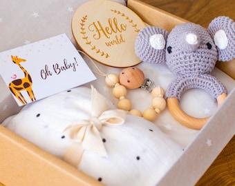 Baby Gift Box Set / Baby Boy Gift Set / Gender Neutral Baby Gift / Sustainable New Baby Gift / Baby Shower