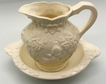 Vintage Lefton Renaissance Kneeling Cherubs Angels and Grapevines Planter Lefton Candy Dish  Valentine\u2019s Day Gift Lefton
