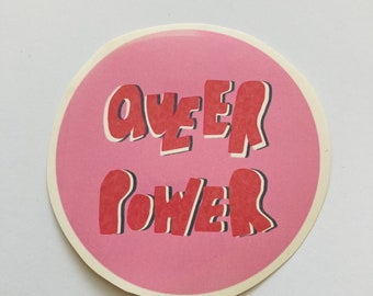 Large queer power sticker