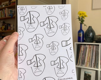 Genderless Faces A5 print