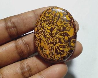 Locket Beautiful Pendant Natural Sang-E-Maryam 12 CT Gemstone  Oval Cabochon  Color Brown Natural Print  Sterling Silver 925