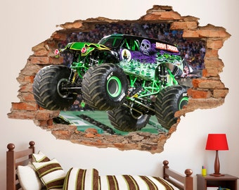Wall Decals Murals American Dump Truck Wall Decal Sticker Mural Poster Print Art Kids Boys Bedroom Decor Gz1 Wall Decor