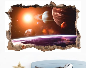 Universe Wall Decal Etsy