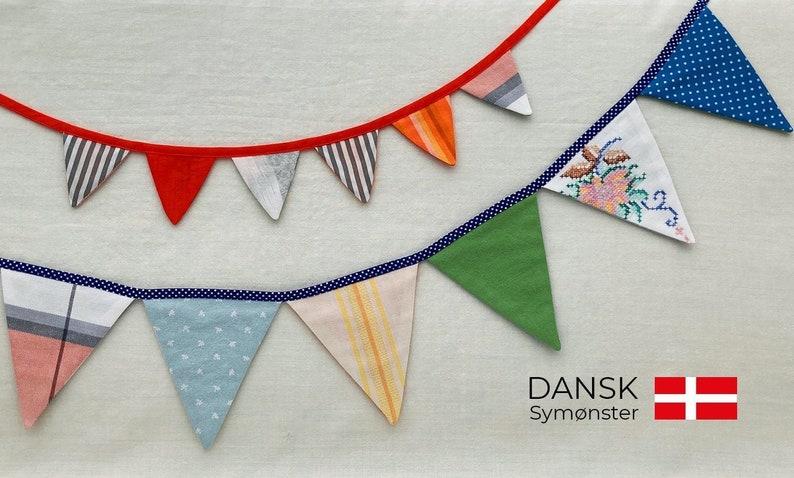 Flagranke  Dansk symønster  PDF print-selv  Dekoration image 1
