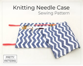 Knitting Needle Roll Case   PDF Sewing Pattern & Tutorial   One Size   For circular, interchangeable or double pointed knitting needles