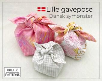Lille gavepose med sløjfe   Dansk symønster   PDF & Tutorial   3 str.
