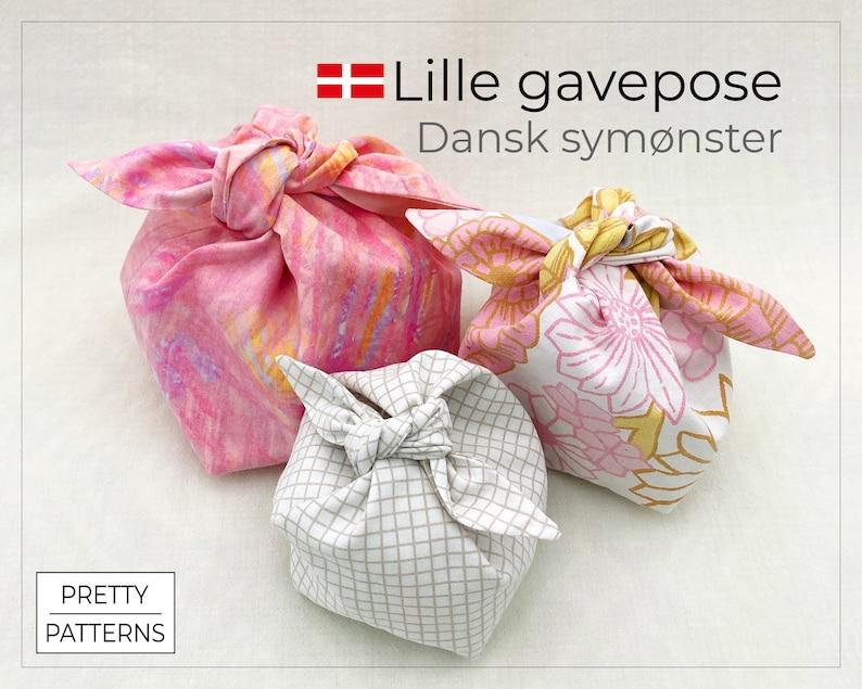 Lille gavepose med sløjfe  Dansk symønster  PDF & Tutorial  image 1