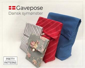 Gavepose   Dansk symønster   PDF print-selv   Opbevaring