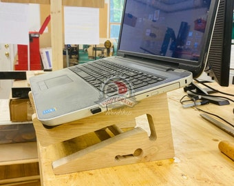 Wood Laptop Stand, Ergonomic Wood Stand, Tablet Stand, Adjustable Laptop Stand, Portable Laptop Stand, Laptop Tray, Desk accessories