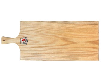 Solid Hardwood Handled Serving Platter Paddle / Cutting Board