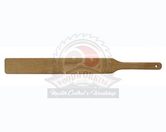 "SALE ITEM - 1/4""  Oak Ruler Spanking Paddle | Ultra-Light BDSM Spanking Paddle | Spanking Punishment Paddle"