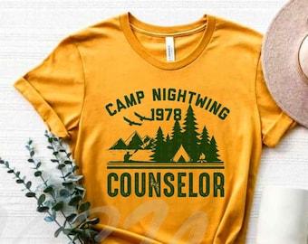 Camp Nightwing Shirt,Shadyside,Sunnyvale,Halloween Shirt,Horror Movie Shirt,Scary Movie Shirt,Fall T-Shirt,Crime,Horror Graphic Tee