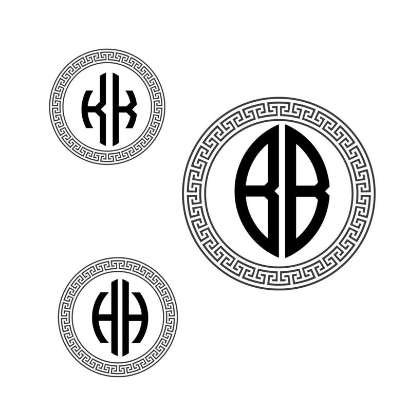 monogram designs for wedding invitations monogram fonts in circle frame svg Monogram letters Svg files for cricut