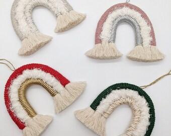 CHRISTMAS   Mini-Rainbow Tree Decorations   3-Row   Rainbow Decor   Personalised Gift   Christmas Decor   Gifts for Friends