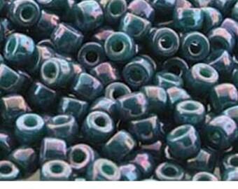 Turquoise Nebula Tile Mini 2 Hole Bead 5mm 30 count, tile-63130-15001