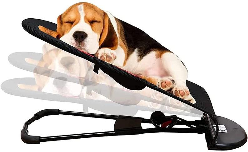 Adjustable Portable Folding Elevate Pet Dog Bed Rocking Chair image 0