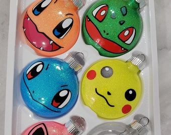 Pokemon-inspired, Nightmare Before Christmase-inspired Cute Monster Plastic Disc Ornaments Holiday Christmas