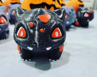 Halloween Bulbasaur-inspired Pumpkin Monster Jack O'Lantern 3D Printed Figure