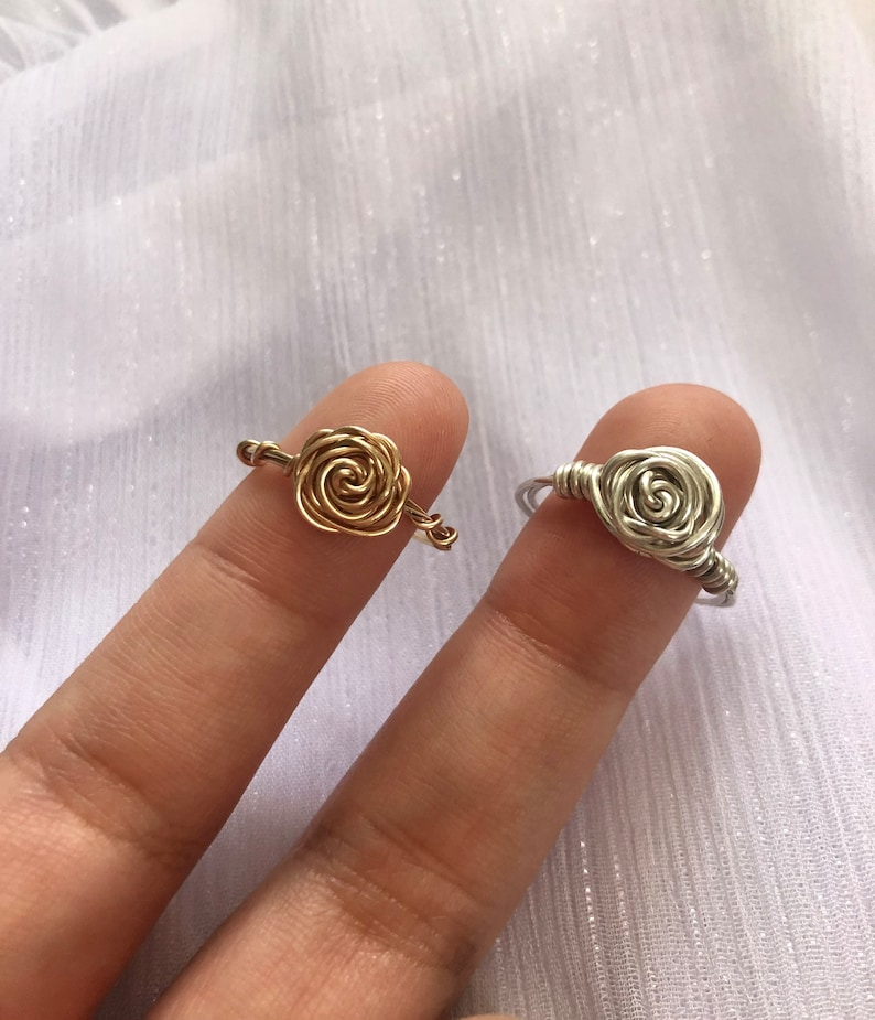 Miraculous Ladybug Inspired Wire Wrapped Rose Rings