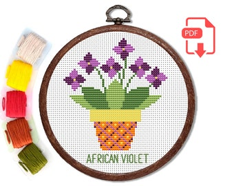 JNQ00215P3-WS African Violets Placemat Pattern