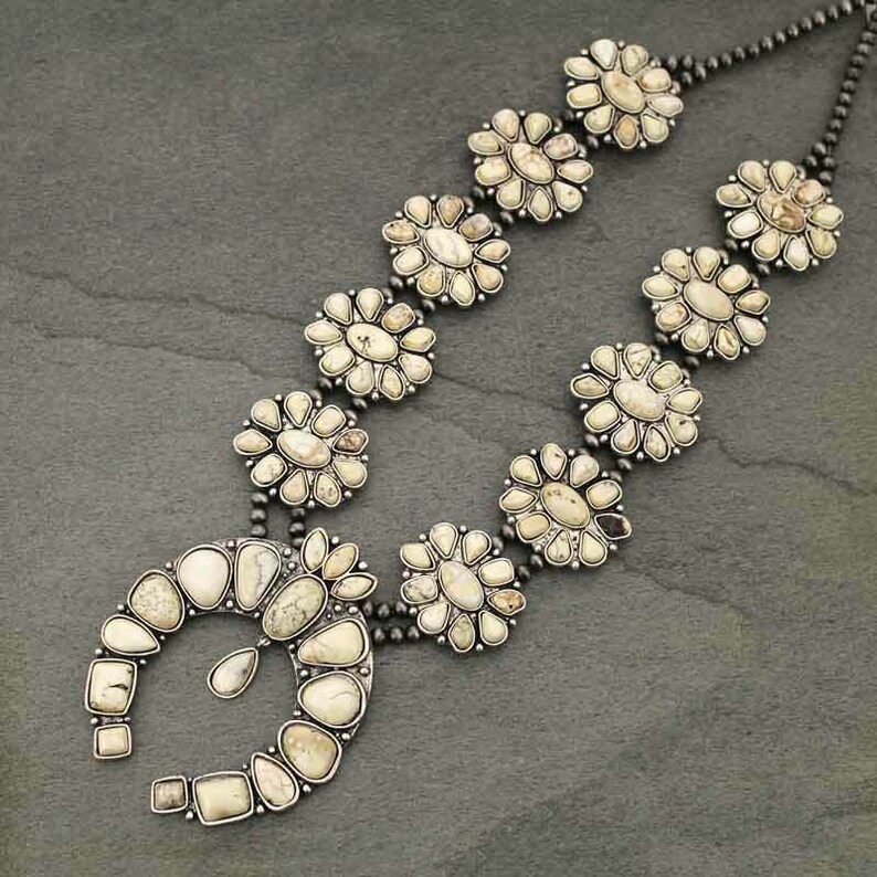 NWT Natural Full Squash Blossom  Necklace 7320340089