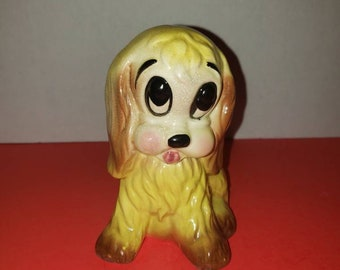 Vintage Hull Pottery Puppy Dog with Ball of Yarn Planter  Succulent Planter