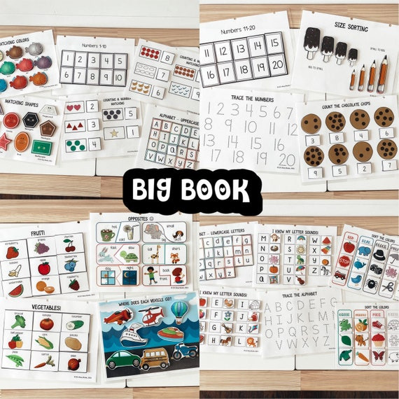 Big Book: Busy Book for Toddlers