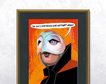 The Phantom - Phantom of the Paradise - Poster A4 - Speech bubble editable - Unframed