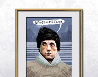 Balboa - Rocky - Poster A4 - Speech bubble editable - Unframed