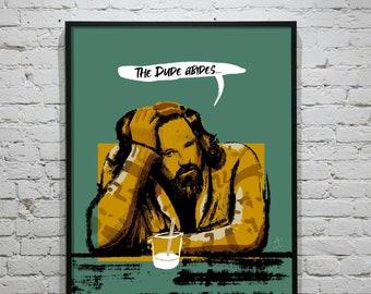 Big Lebowski Poster Series - The Dude - Unframed