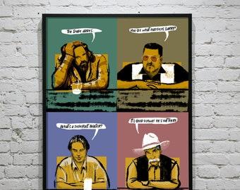 Big Lebowski Poster Series - All Together - Unframed