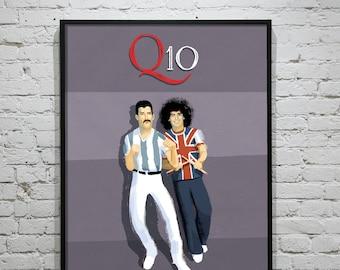 Freddie Mercury & Maradona - When two men mocked a stupid war - Unframed