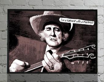 Bill Monroe - Poster 40X30 - Speech bubble editable - Unframed