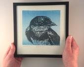 BARN SWALLOW, woodcut, handmade and signed print, including frame, bird art, bird print, art, printmaking, print, wall art, artwork