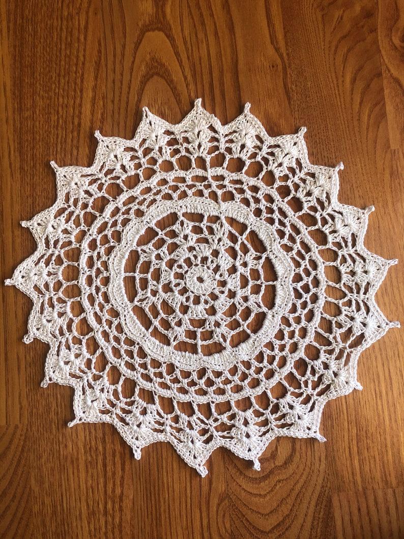 White Hand Crocheted Doily