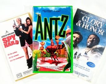Classic Movies ~ Vintage VHS Tapes: Antz / Glory & Honor / Spy Hard