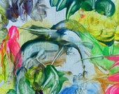 ABUNDANCE: Original, Abstract, Watercolor, Giclée, Print, Canvas, Large, Wall Art, Uplifting, Inspirational, Colorful, Joyous, Healing,