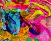 DREAM: Original, Abstract, Wall Art, Watercolor, Giclée, Print, Canvas,  Large, Vibrational, Joyous, Colorful, Inspirational, Healing