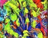 FLOWER OF LIFE: Original, Watercolor, Abstract, Giclée, Print, Canvas, Large, Wall Art, Uplifting, Inspirational, Colorful, Joyous, Healing,