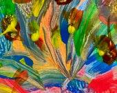 EXPERIENCE: Original, Abstract, Wall Art, Watercolor, Giclée, Print, Canvas, Large, Joyous, Colorful, Inspirational, Healing, Vibrational