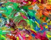 DESTINY: Original, Abstract, Wall Art, Watercolor, Giclée, Print, Canvas, Large, Vibrational, Joyous, Colorful, Inspirational, Healing