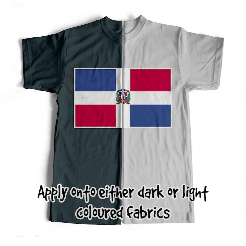 National Flag Dominican Republic Iron On T-Shirt Transfer Print