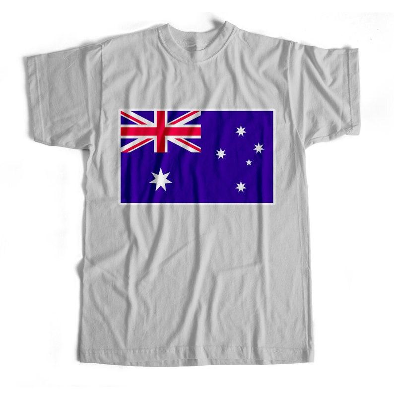 Iron On T-Shirt Transfer Print National Flag Australia
